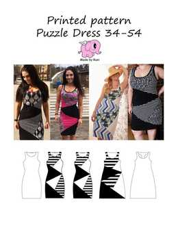 42 Puzzel dress Made by Runi