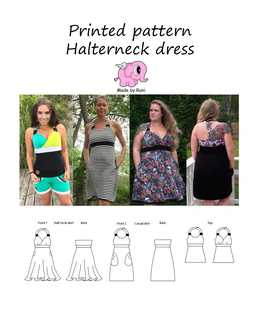 917. Halterneck Dress str. 34-58 (US 4-28) / MADE BY RUNI
