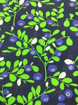 Varpu organic jersey, blueberry - blue