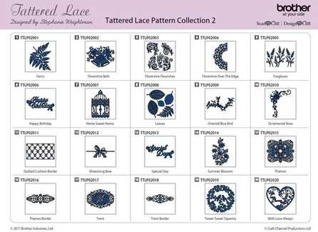 TATTERED LACE PATTERN 20 DESIGNS - COLLECTION 2