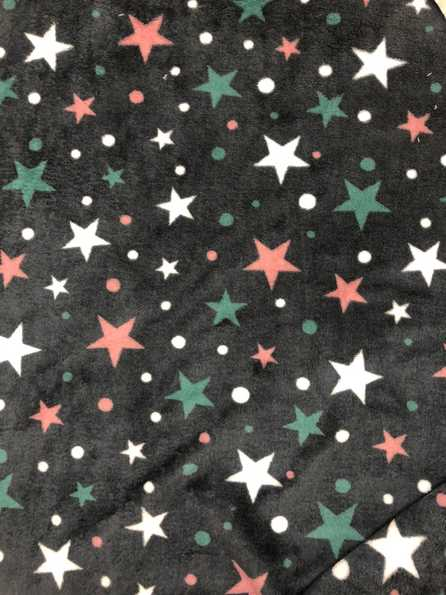 Stars & elephant Rose -  Dubbelsidig Fleece
