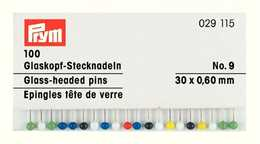 PRYM - Pin glashuvud 30 x 0,60 mm No9 , 100 st