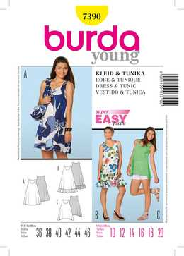 7390. Burda Dam - DRESS & TUNIC