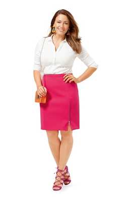6679. Burda Dam - SKIRT PLUS SIZE