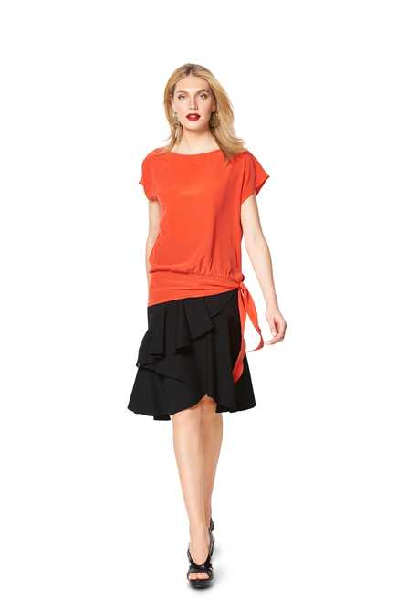 6324. Burda Dam - BURDA STYLE PATTERN MISSES' SIDE TIE TO