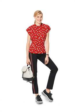 6325. Burda Dam - BURDA STYLE PATTERN MISSES' TOP WITH FITTED WAIST