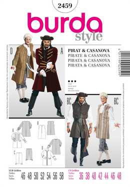2459. Burda Herr - PIRATE & CASANOVA COSTUME