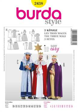 2438. Burda Barn - HOLY KINGS COSTUME SEWING PATTERN