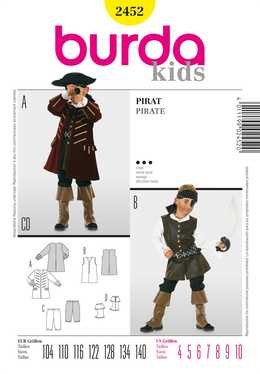 2452. Burda Barn - PIRATE COSTUME