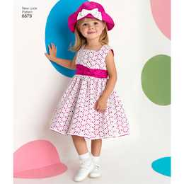 New Look 6879 - Klännning - Baby Flicka - Hatt