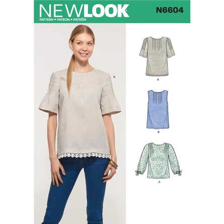 New Look 6604 - Top Väst - Dam