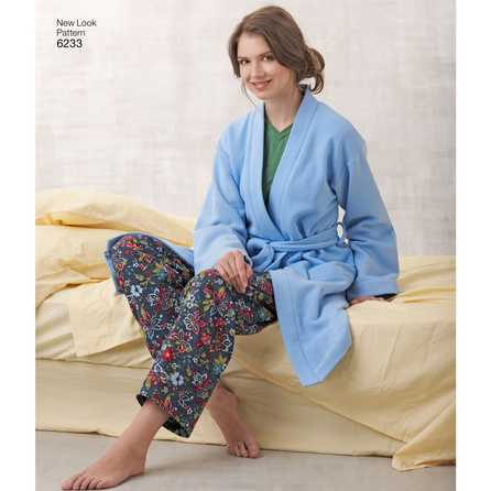 New Look 6233 - Top Byxa Pyjamas - Dam Herr