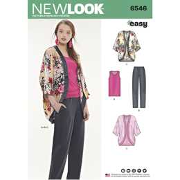New Look 6546 - Jacka Top Byxa - Dam