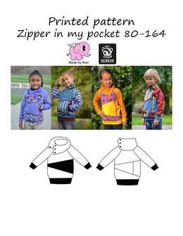Made by Runi - R6. Zipper in my pocket 80-164