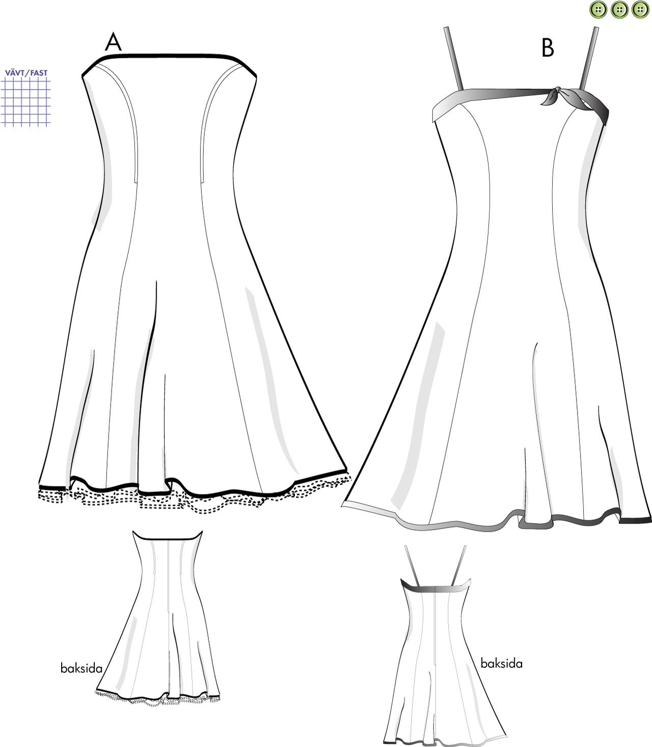 mönster till klänning