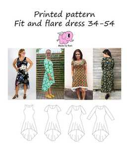 918. Fit and Flare Dress str.34-54 / MADE BY RUNI