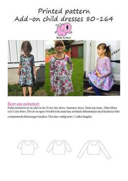 10 Add-on Child Dresses 80-164 Made by Runi