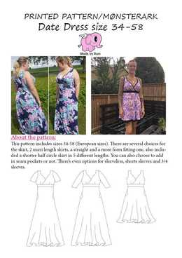 31 Date Dress 34-58 Made by Runi