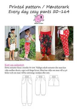 38 Every Day Cosy Pants 34-58 Made by Runi